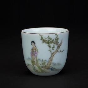 采桑图茶杯