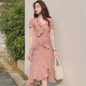 法式桔梗复古山本气质初恋裙子仙女超仙森系维多利亚雪纺连衣裙夏
