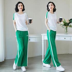 休闲运动套装,棉质长裤t恤两件套HR-QEB907