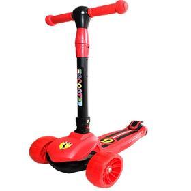 法拉利跑车儿童滑板车2-3-6-8岁三轮单脚溜溜车大男童折叠滑滑车