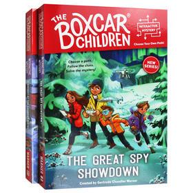 棚车少年系列2册英文原版章节桥梁书Boxcar Children Interactive Mysteries