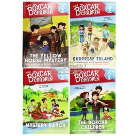棚车少年分级读物4册 英文原版 The Boxcar Children Time to ReadLevel 2