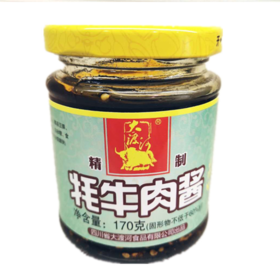 雅安特产牦牛肉山珍酱拌饭酱170g*3瓶