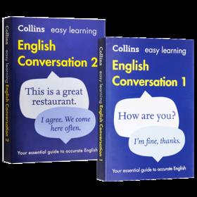 柯林斯轻松学英语口语会话2册 英文原版 Collins Easy Learning English Conversation Book 英文版 进口原版书籍