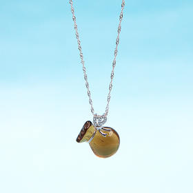 天然黄水晶钱袋挂件(赠银链)