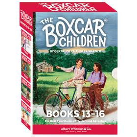 棚车少年13-16册盒装 英文原版书籍 The Boxcar Children Mysteries Boxed Set 13-16
