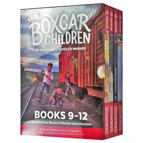 棚车少年9-12册盒装 英文原版 The Boxcar Children Mysteries Boxed Set 9-12