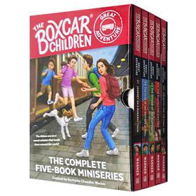 棚车少年伟大冒险系列5册盒装 英文原版 The Boxcar Children Great Adventure 5-Book Set