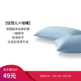 【住范儿绘睡5团】Letsleep/绘睡枕套 双面冷感枕芯套 黑科技超冷感冰爽枕头套