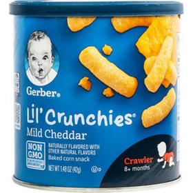 【效期21.2】美国嘉宝Gerber 切达奶酪口味泡芙条(8个月以上)42g