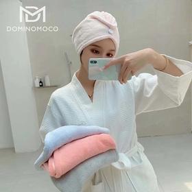韩国DominoMoco干发帽吸水速干珊瑚绒擦头发干发巾包头巾女