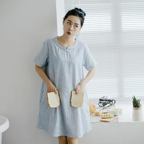 Bamboo双层纱精梳棉睡裙