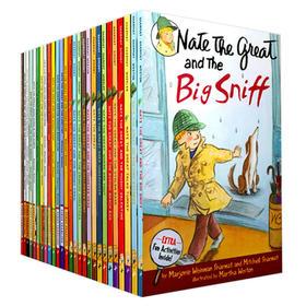 Nate The Great 大侦探内特27册全套 英文原版 汪培珽书单推荐 儿童桥梁章节小说书 英文版进口书了不起的小福尔摩斯侦探内特