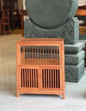 红桥红  家具严选  缅甸花梨(大果紫檀)  【缅花直棂小柜、茶水柜】