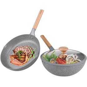 【悦味 Taste Plus】元麦二件套 炒锅+煎锅