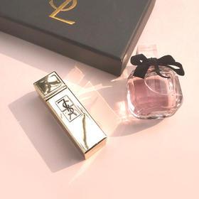 【520情人节礼盒】YSL圣罗兰香水口红2件套盒中样香水礼盒带口红方管圆管