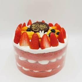红丝绒水果裸蛋糕