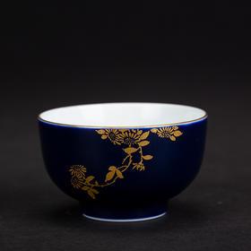 雅市·祭蓝梅兰竹菊杯(菊)