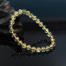 天然金发晶圆珠手串