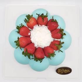 Tiffany蓝~草莓慕斯蛋糕