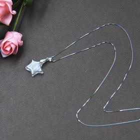 天然白水晶星星/心形款925银项链