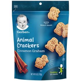 【效期21.2】美国嘉宝Gerber 香脆动物饼干四段12个月以上170g
