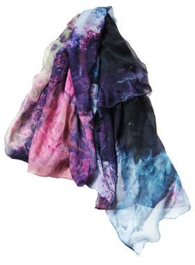 艺术衍生品 手工包边限量真丝丝巾 雪凌 93×195cm