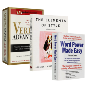 单词的力量 英文原版 Word Power Made Easy 言语优势 Verbal Advantage 风格的要素 英语词汇写作学习工具书 英文版进口书籍
