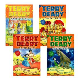 希腊故事4册 英文原版 Greek Tales 可怕的历史同作者 Terry Deary 儿童英语章节小说故事书 英文版 正版进口原版书籍