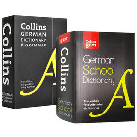 柯林斯德语词典及语法 英文原版 Collins German Dictionary and Grammar 袖珍柯林斯德语学生字典 英文版进口原版学习工具书