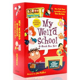 疯狂学校 英文原版 8册套装 My Weird School 1-8 Book Box Set 校园题材经典初级章节桥梁书 美国小学推荐读物英文版儿童文学小说