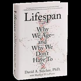 寿命 我们为何会衰老 以及我们为何可以不必衰老 英文原版 Lifespan Why We Age and Why We Don't Have To 英文版 进口英语书籍