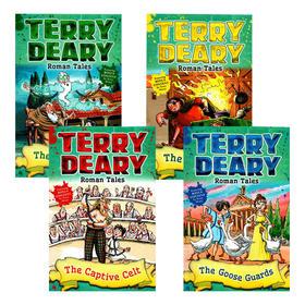 罗马故事4册 英文原版 Roman Tales 可怕的历史同作者 Terry Deary 儿童英语章节小说故事书 英文版 进口原版英语书籍
