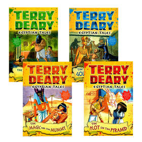 埃及故事4册 英文原版 Egyptian Tales 可怕的历史同作者 Terry Deary 儿童英语章节小说故事书 英文版 进口原版书籍