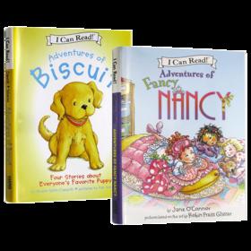 爱打扮的小南茜 4个故事合集 英文原版绘本 Adventures of Fancy Nancy 小饼干狗4个故事合集 I Can Read系列 儿童英语启蒙书籍