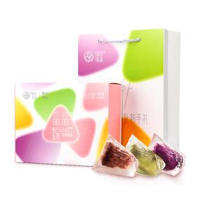 【产地直发】花见拾乐晶晶粽420克/盒 (红豆味*2) (紫薯味*2) (抹茶味*2)