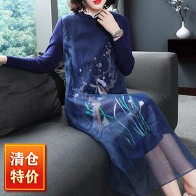 (捡漏款)OG9840中国风复古刺绣连衣裙TZF