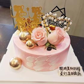 网红双面蛋糕,一个蛋糕两种风格。