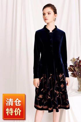 (捡漏款)OG8098早秋新款刺绣连衣裙TZF