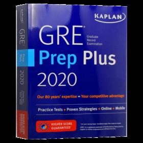 卡普兰GRE备考指南2020 英文原版 Kaplan GRE Prep Plus 2020 6 Practice Tests 出国留学备考用书 英文版 进口原版英语考试书籍