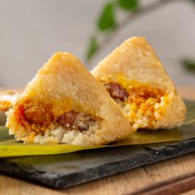 """【有""""粽""""你就来 】蛋黄肉粽+豆沙碱水粽200g*4袋 端午粽子组合装 随享美味"""