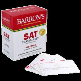 巴朗新版SAT卡片 英文原版 Barron's NEW SAT Flash Cards 正版进口原版SAT考试英语工具书 全英文版