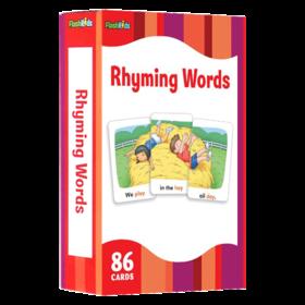 押韵词闪卡 英文原版 Flash Kids Rhyming Words Flash Cards 英语单词学习卡片 英文启蒙高G效闪卡 进口正版英文版