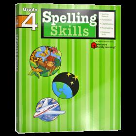 Flash Kids 小学英语拼读技巧四年级 英文原版 Spelling Skills Grade 4 美国教材教辅 Harcourt Family Learning 家庭英文学习