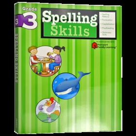 Flash Kids 小学英语拼读技巧三年级 英文原版 Spelling Skills Grade 3 美国教材教辅 Harcourt Family Learning 家庭英文学习