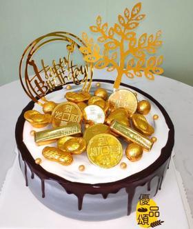 金币摇钱树蛋糕