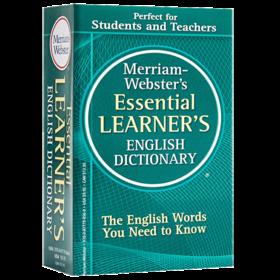 韦氏基础英语词典 英文原版英英字典 Merriam-Webster's Essential Learner's English Dictionary 英文版学习工具书 进口原版书籍