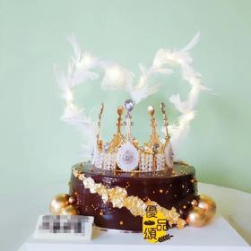 高雅黑金皇冠👑蛋糕