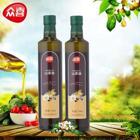 众喜750ml山茶籽油|手工采摘 精心挑选 物理压榨 优质产品【粮油特产】