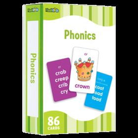 自然拼读儿童闪卡 英文原版 Flash Kids Phonics Flash Cards 英语单词学习卡片 英文启蒙高G效闪卡 英文版原版